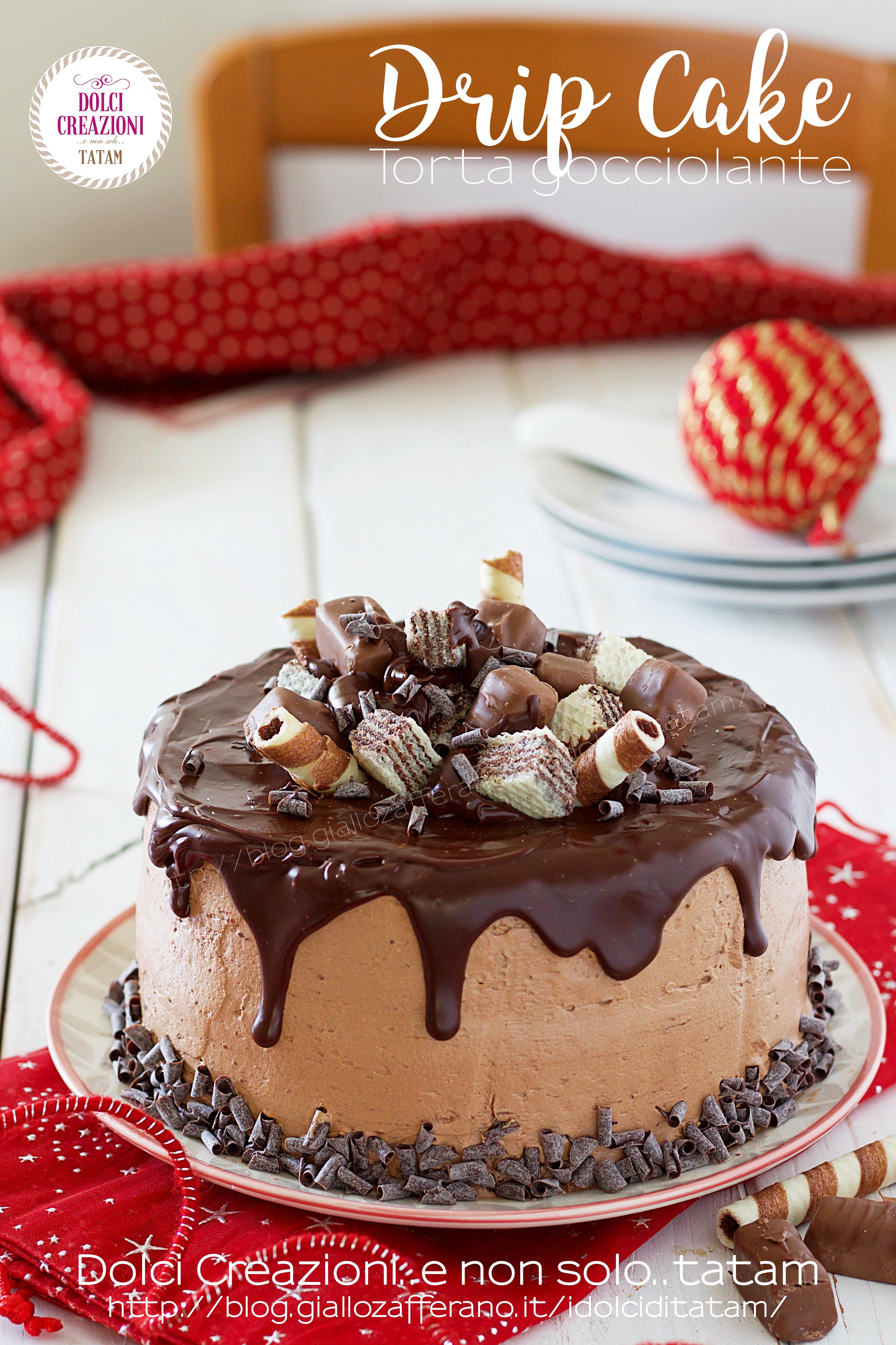 Drip cake al cioccolato delle feste