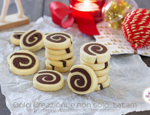 Ricetta Biscotti bicolore a spirale, con passo passo fotografico