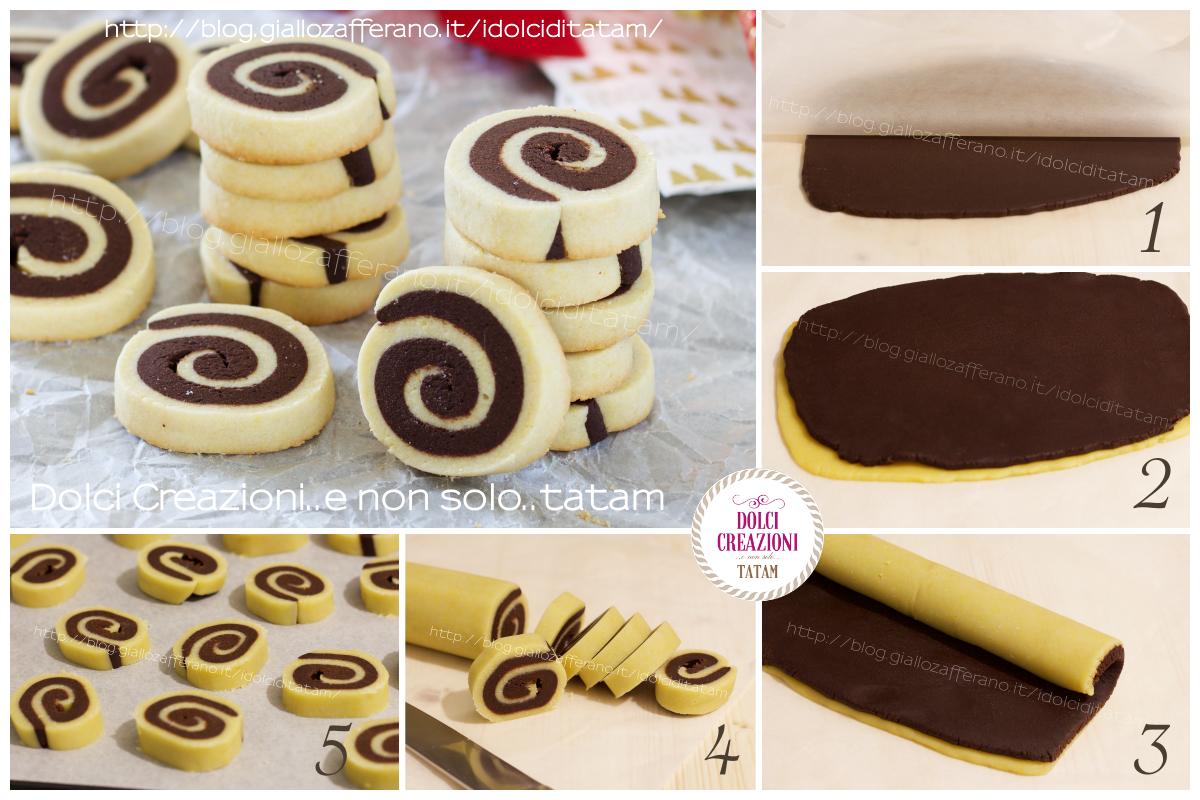 Ricetta Biscotti bicolore a spirale
