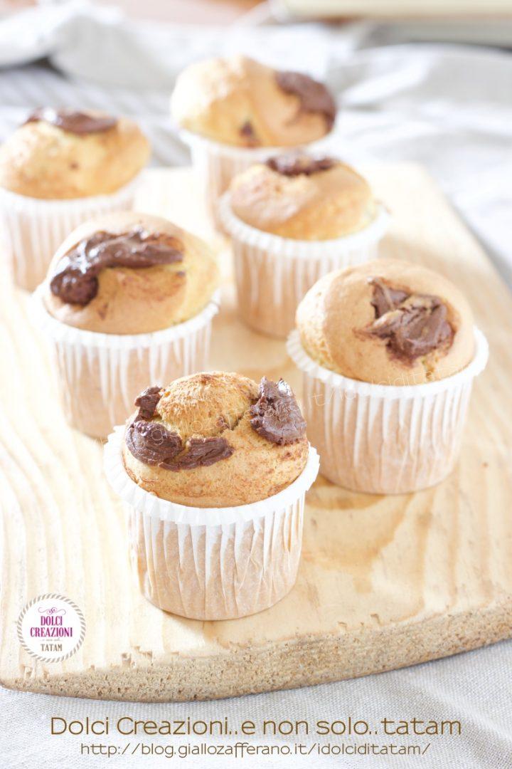 Mini muffin alla nutella con friggitrice ad aria