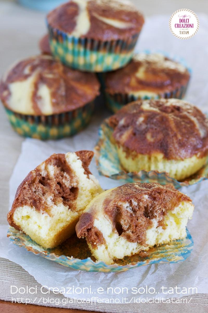 Muffin variegati alla nutella