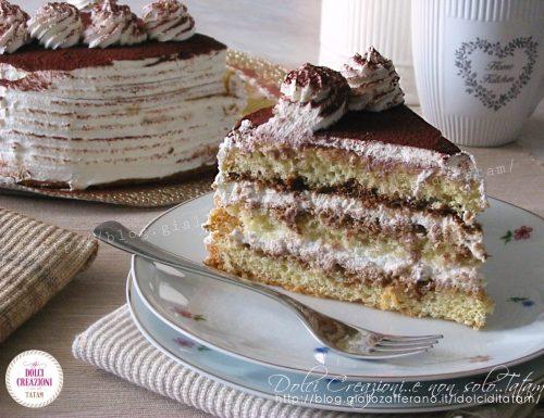 Torta Tiramisu' senza uova crude – con video ricetta