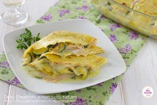 Crepes salate zucchine e prosciutto