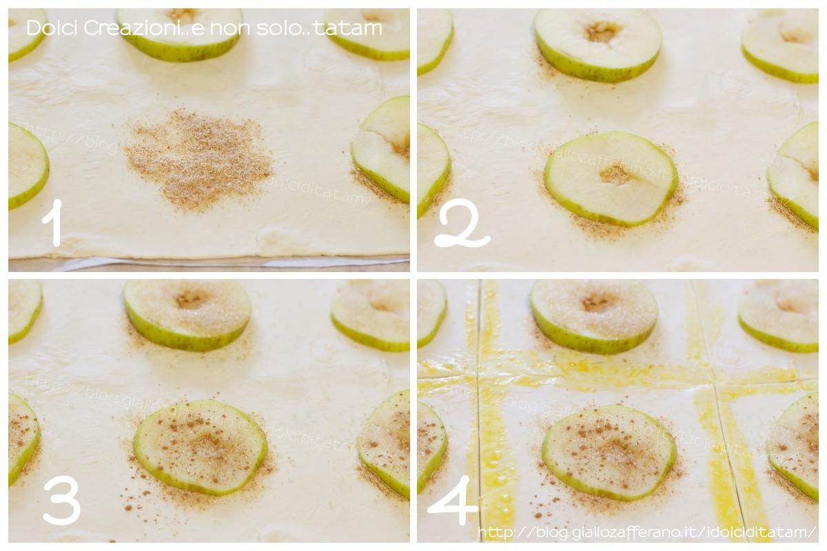 Dolcetti di pasta sfoglia mele e cannella