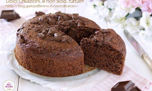 Torta al cacao senza uova e burro, integrale e sofficissima!