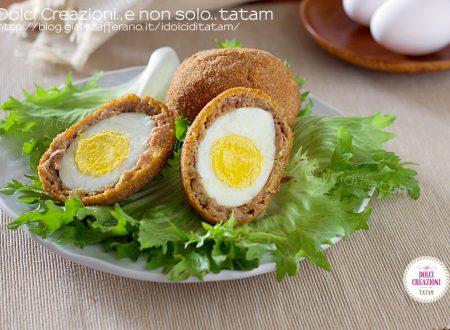 Uova alla scozzese - Scotch Eggs. Uova fritte con salsiccia