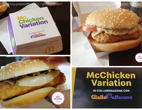 McChicken Variation, due nuovi panini in collaborazione con GialloZafferano.