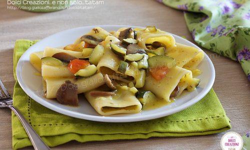 Paccheri alle verdure con zucchine