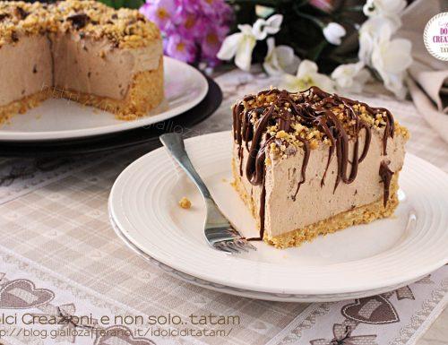 Torta cheesecake fredda al caffe'