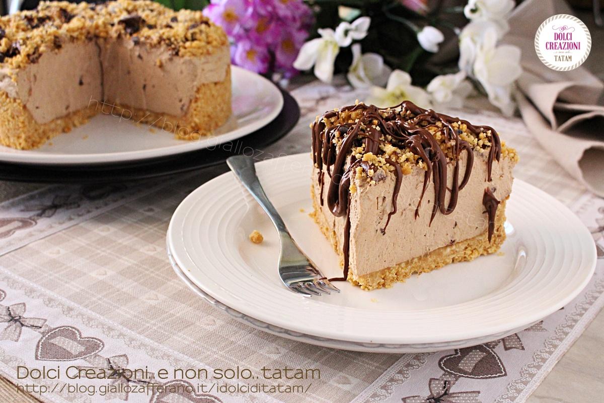 Torta cheesecake fredda al caffe' Dolci facili per ferragosto