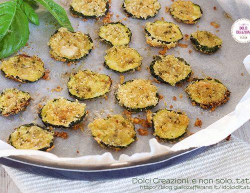 Chips di zucchine al parmigiano, in Friggitrice ad aria