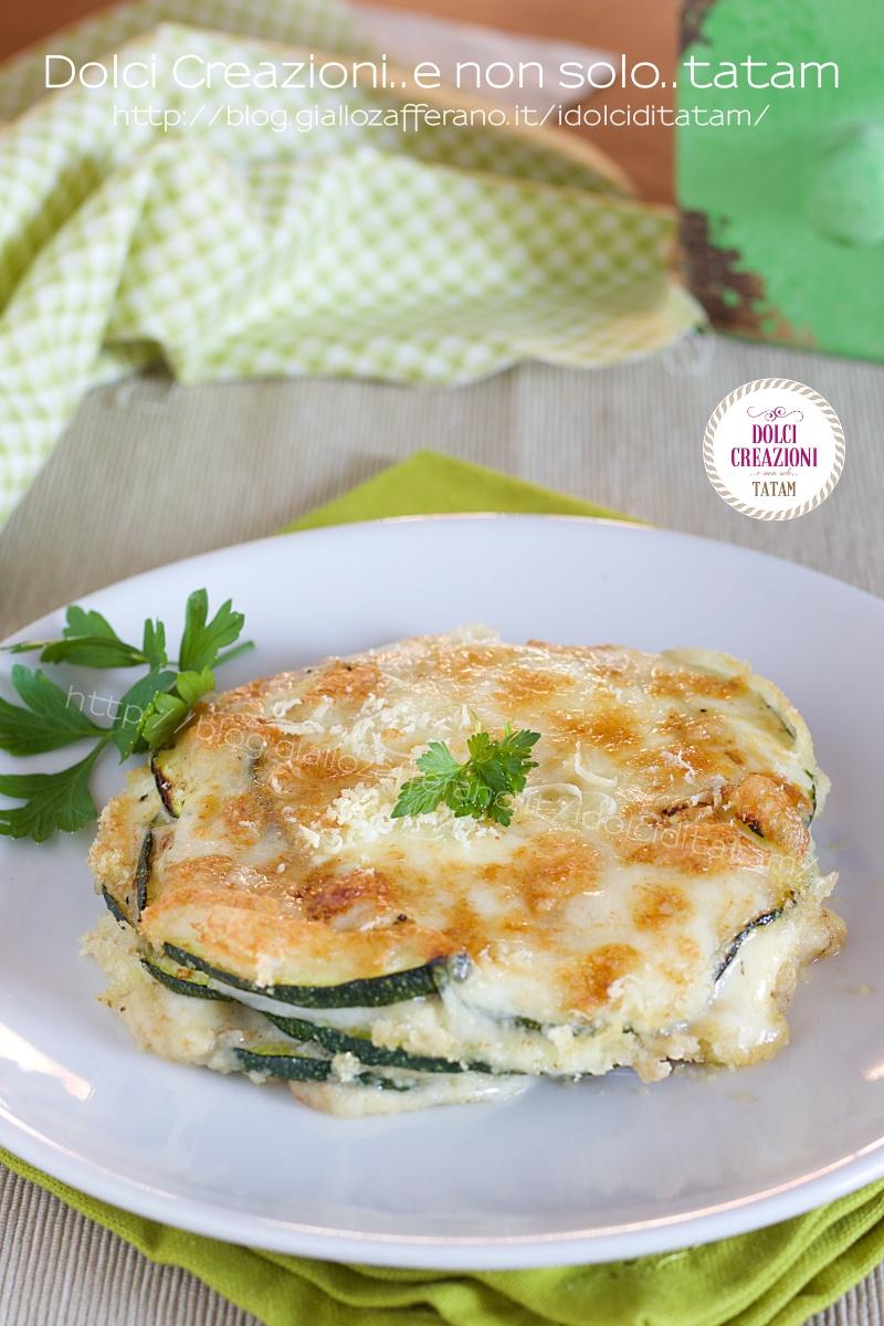 Parmigiana di zucchine e scamorza in friggitrice ad aria