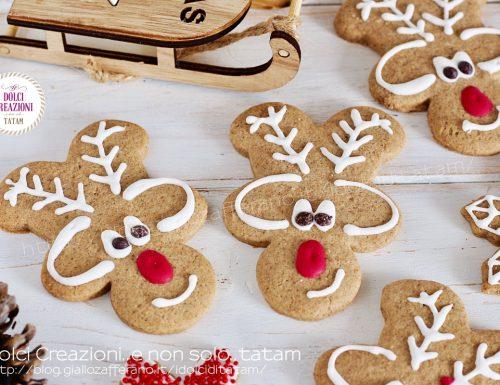 Biscotti Renne di Natale di pan di spezie
