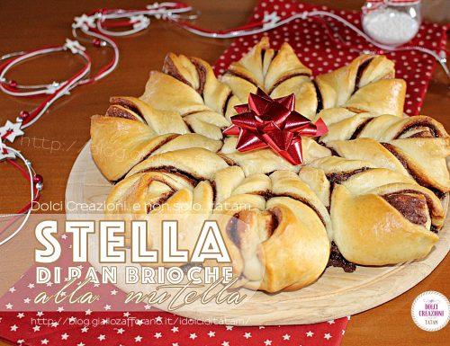 Torta stella di pan brioche alla nutella. Video ricetta.