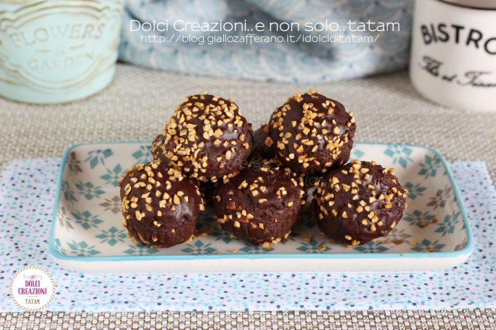 Tartufini al cioccolato e nocciole