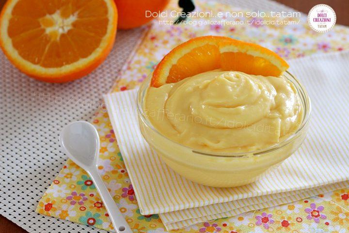 Crema pasticcera alla arancia