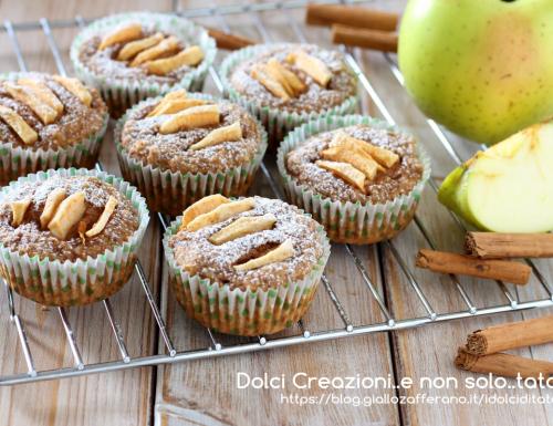 Muffin integrali alle mele e cannella, senza uova e senza burro