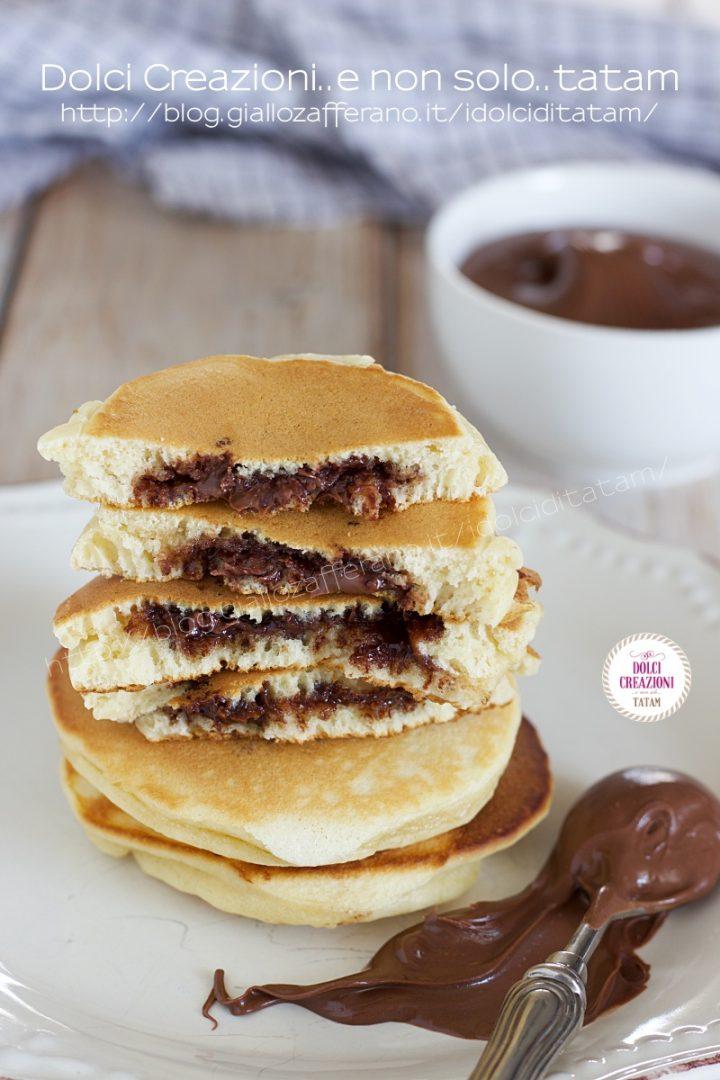 Pancakes ripieni alla nutella