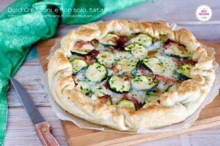 Torta salata zucchine prosciutto cotto e mozzarella