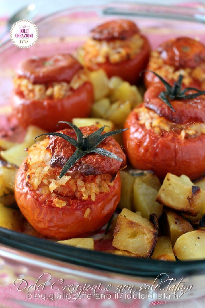 Pomodori ripieni di riso con patate2
