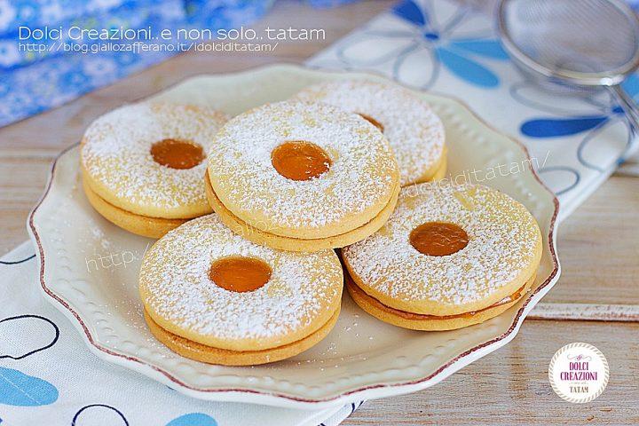 Ricetta Biscotti fatti in casa occhio di bue1a