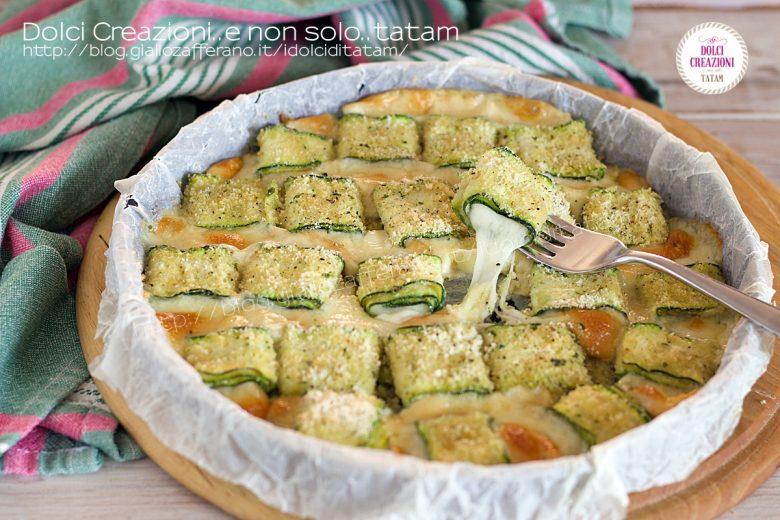 Rotolini di zucchina e scamorza filante
