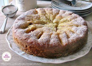 Torta soffice con pesche fresche Dolci facili per ferragosto