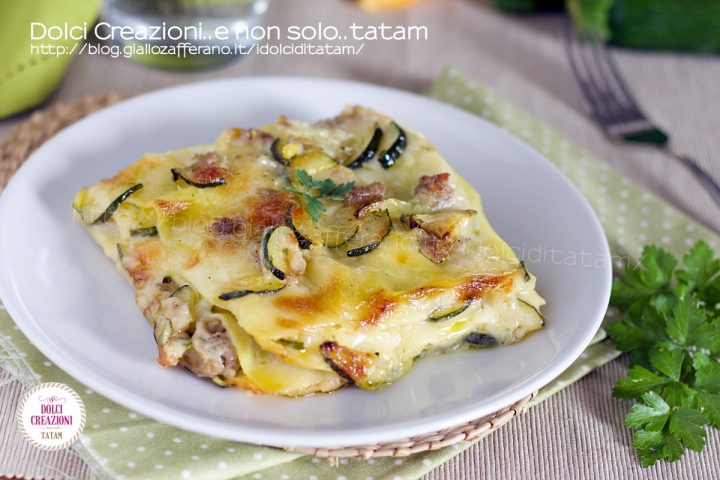 Lasagne zucchine e salsiccia