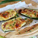 Zucchine al forno ripiene con prosciutto e scamorza