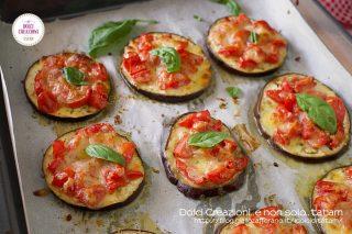 Pizzette di melanzane al forno light
