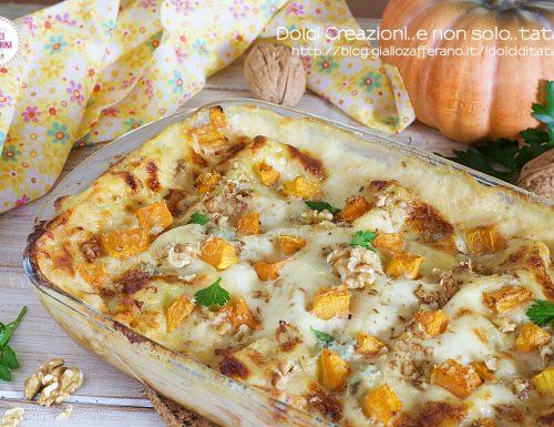 Lasagne alla zucca gorgonzola e noci
