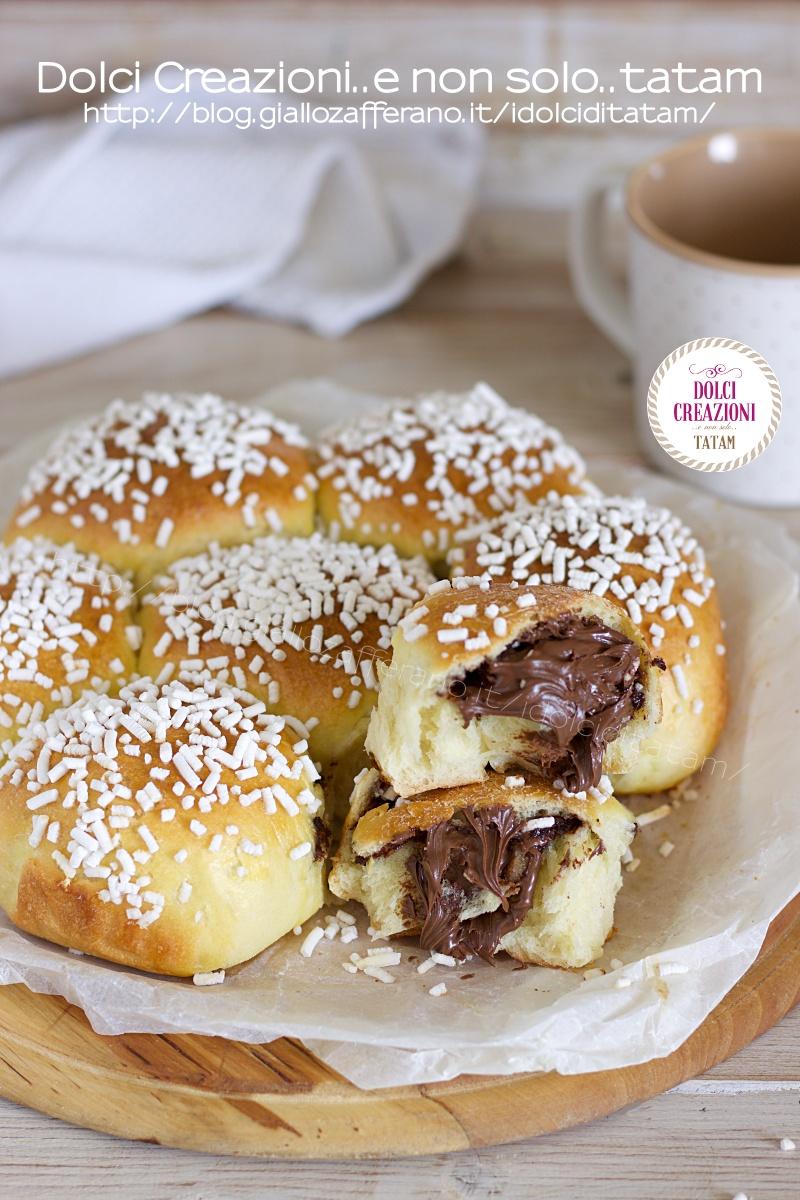 Torta Danubio dolce alla nutella pan brioche