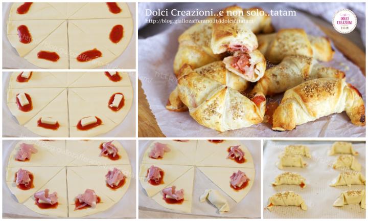 Cornetti di pasta sfoglia ripieni alla pizzaiola