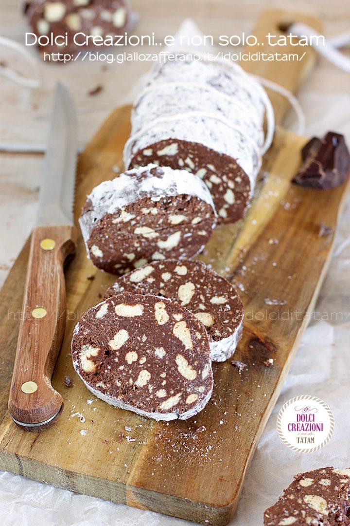 Ricetta Salame Al Cioccolato Proteico.Salame Al Cioccolato Senza Uova Crude Una Gran Golosita
