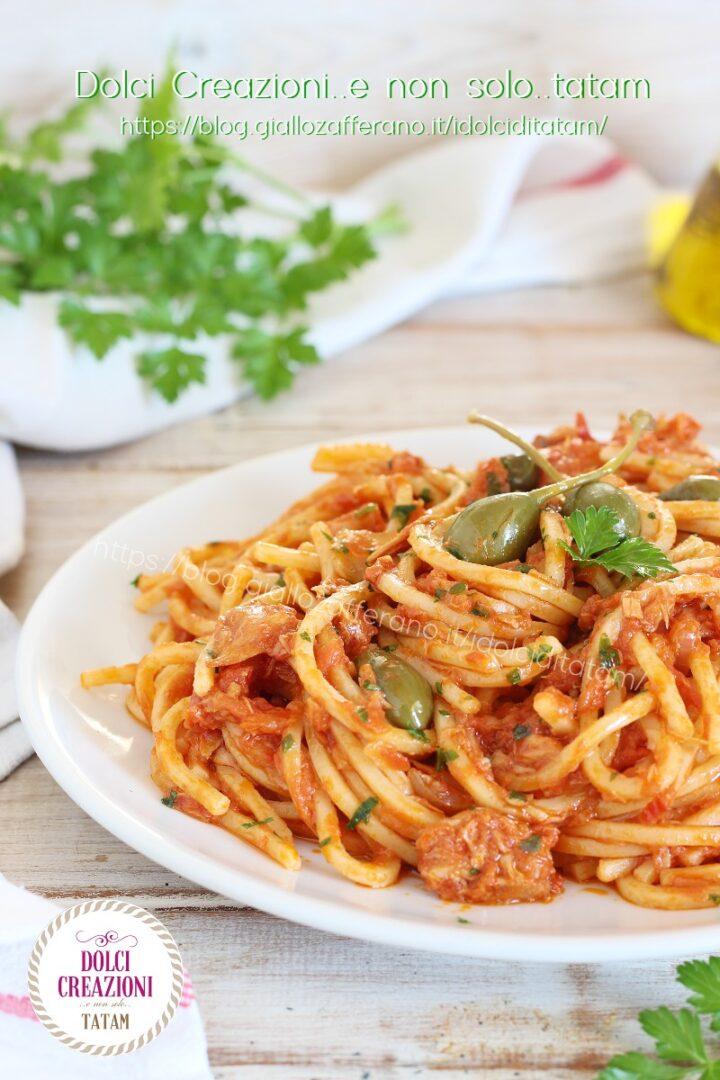 Spaghetti alla chitarra con sugo di tonno