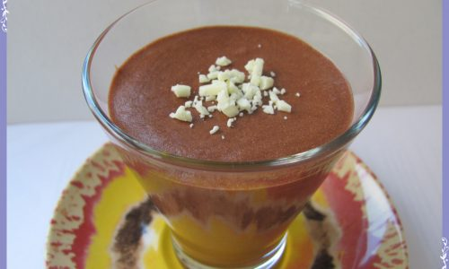 Mousse leggera al cioccolato fondente