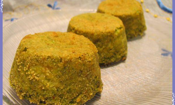 Sformatini ai broccoli con cuore di mozzarella