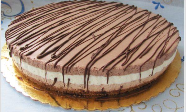 Cheesecake fredda al triplo cioccolato