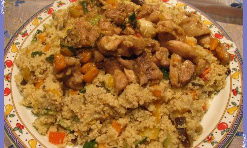 Couscous con pollo e verdure
