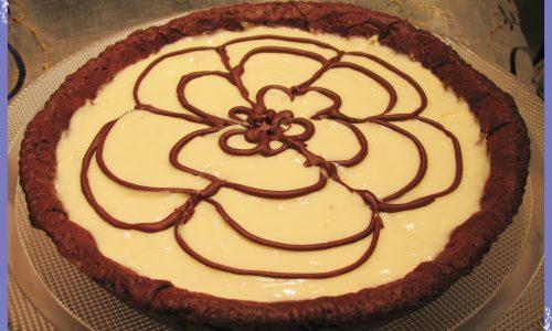Crostata alla crema di cioccolato bianco