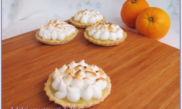 Tartine meringate alla crema di arance