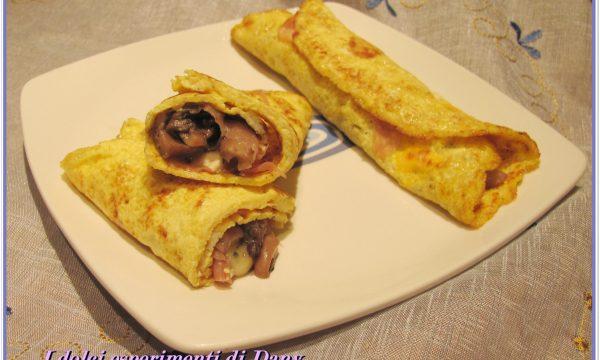 Omelette prosciutto crudo e funghi