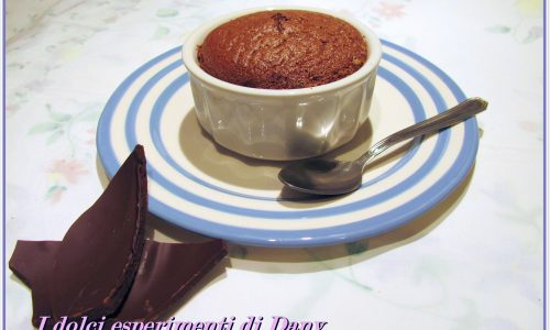 Sufflè al cioccolato e rum