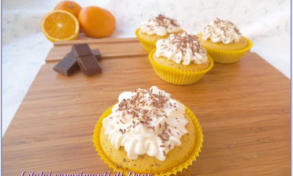 Cupcakes arancia e cioccolato