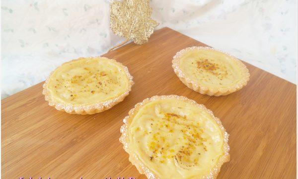 Crostatine caramellate al limone