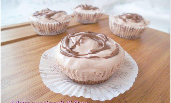 Mini cheesecakes alla Nutella senza cottura