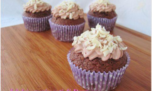 Cupcakes alla Nutella e cioccolato bianco