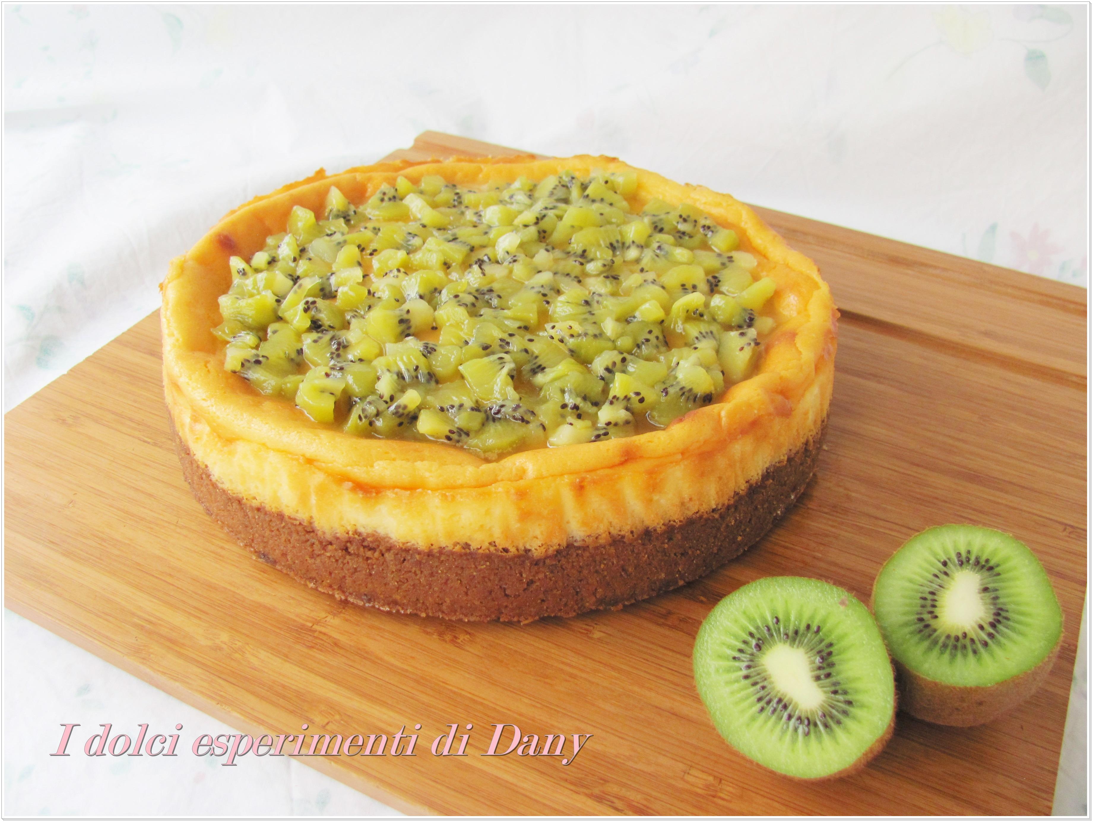 Cheesecake al cioccolato bianco e kiwi
