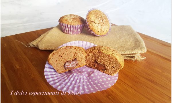 Muffins al cacao con cuore di Nutella