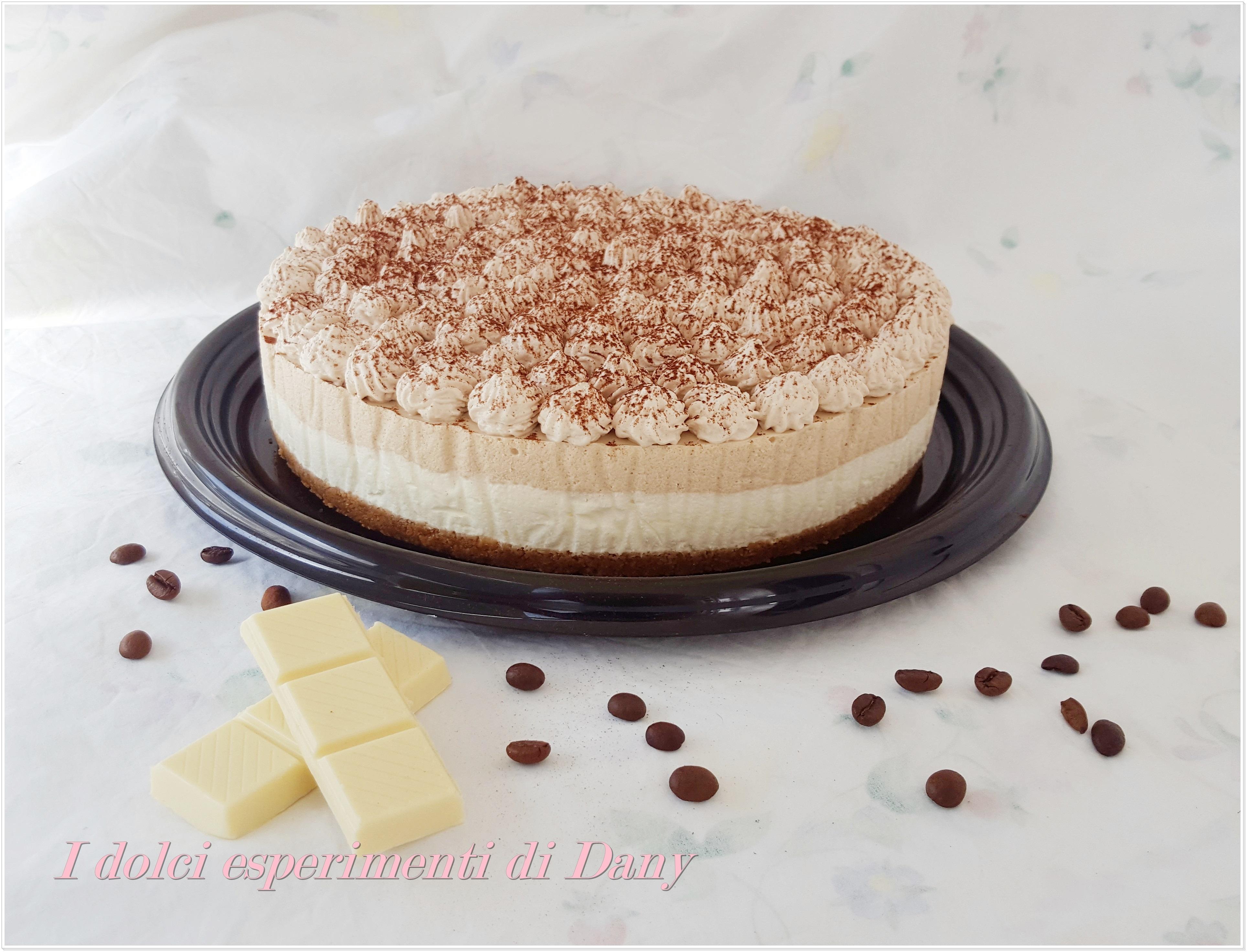 Cheesecake fredda al cioccolato bianco e caffè